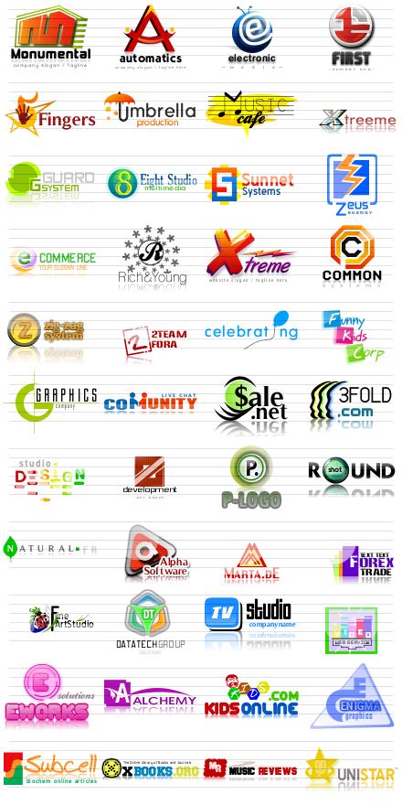 Letter Logos, Letter based logo templates